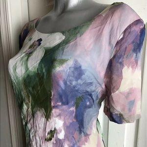 Carole Little Dress Women's Floral Watercolor sz16